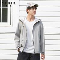 森马夹克男2020夏季新款连帽宽松外套未来感潮流学生男装工装风