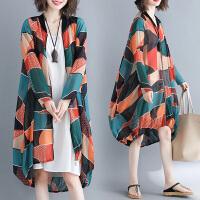 胖女人风衣加肥加大码洋气宽松减龄时髦中长款薄外套夏季新款