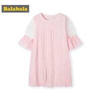 巴拉巴拉女童裙子中大童儿童夏装2019新款童装韩版洋气雪纺连衣裙