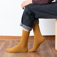袜子男中筒袜日系复古低帮短袜夏季薄款黑色短筒双针男士棉袜