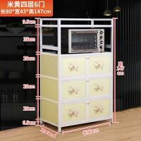 简易不锈钢拉丝橱柜 厨房柜储物柜置物收纳柜餐边茶水柜 6门