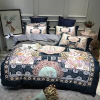 加厚保暖美肤绒床上四件套 欧式印花床单被套宝宝绒床品4件套k