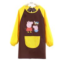儿童防水罩衣长袖围裙定制logo幼儿园美术绘画班中大童小孩画画衣