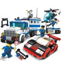 兼容乐高积木玩具8城市警察局系列儿童拼装6-10岁男孩子7