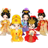 京剧人物摆件 中国风妇女节礼品伴手礼绢人故宫娃娃西安纪念品