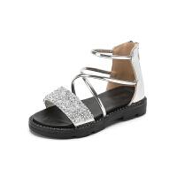 女童凉鞋夏季时尚小公主儿童罗马鞋中大童宝宝鞋