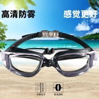 泳镜女士高清防水防雾大框游泳眼镜平光近视透明男女成人游泳装备