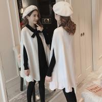连衣裙斗篷外套毛衣裙两件套 孕妇秋冬装套装时尚款2018新款中长款