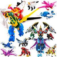 神兽金刚4神兽金刚3玩具6合体变形机器人儿童套装玩偶