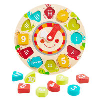 宝宝玩具1-3岁益智男孩女字母形状认知时钟配对1-2周岁婴儿童积木
