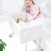 婴儿床实木宝宝床拼接大床多功能新生儿睡床bb床变书桌 小小哒U型床-可变书桌【需配88*48cm哦】