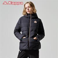 Kappa卡帕 女款羽绒服防寒服保暖连帽外套2019新款K0962YY92D