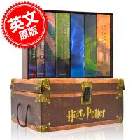 现货 哈利波特1-7全集 学乐出版 亚瑟莱文美版精装 精美盒装 付贴纸 英文原版小说 英文版 Harry Potter1
