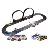 路轨道赛车玩具儿童双人电动遥控跑道风火轮汽车套装