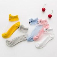 小孩水晶儿童袜春秋季彩色男孩10宝宝女童丝袜短袜男女2018