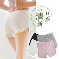夏天白色宽松蕾丝安全裤女防走光无痕薄款纯棉打底短裤可外穿高腰