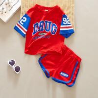 儿童套装男童夏篮球服薄棉两件套宝宝休闲短袖夏装