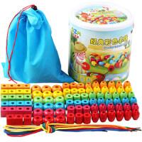 巧之木动物串珠儿童益智玩具 男女孩宝宝早教穿线积木串串珠玩具