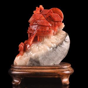 《海市蜃楼精品摆件》天然寿山石取巧全手工精雕