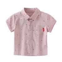 婴儿衬衣宝宝纯棉衣服儿童夏装小童上衣男童衬衫短袖
