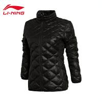 李宁短款棉服女士运动生活系列保暖立领修身冬季运动服AJMK026