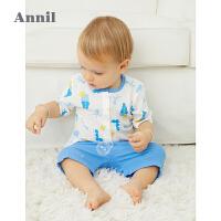 【2件4折价:87.6】安奈儿童装男女童夏季套装2021新款洋气小童宝宝上衣短裤两件套薄