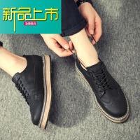 新品上市英伦男鞋春季潮鞋19新款内增高休闲皮鞋韩版潮流百搭板鞋