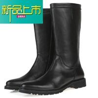 新品上市走索时尚潮流男靴子韩版马丁靴牛仔靴欧美大码软皮男鞋潮鞋高筒靴