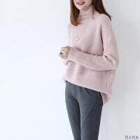 高领毛衣女套头加厚保暖韩版时尚宽松粗毛线慵懒风大码打底衫