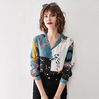 【特价爆款】看起来真年轻女式雪纺衬衫上衣女长袖韩版时尚衬衣设计感小众