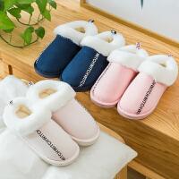 棉拖鞋女冬季室内可爱情侣居家用毛绒月子家居家防滑厚底秋冬男士