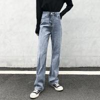 Lee Cooper夏季新品牛仔裤女时尚宽松小直筒休闲垂感垮裤个性牛仔裤女 LCWB8238