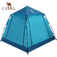 camel骆驼户外帐篷单层三人野营帐篷免搭建速开帐篷