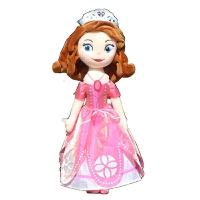 苏菲亚公主玩偶 苏菲亚公主布娃娃白雪公主灰姑娘贝尔毛绒玩具美人鱼长发玩偶女孩