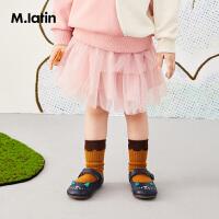 【秒杀价:119元】马拉丁童装女大童皮鞋春装2020年新款可爱图案小皮鞋