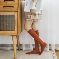 袜子女秋冬款长筒黑色丝袜女中筒堆堆袜潮ins高筒压力瘦腿小腿袜