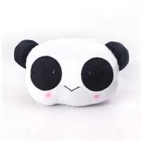 儿童汽车靠枕头枕一对熊猫头车载座椅护颈枕四季通用萌萌可爱车内装饰(随机赠送) 熊猫头枕【单个】