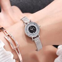 新款韩版潮流时尚女表简约水钻流沙小表盘皮带学生手表石英表