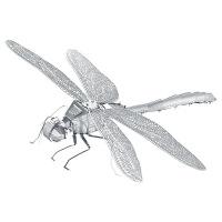 【蜻蜓】3D立体拼图儿童拼插模型拼装金属智力玩具