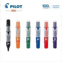 日本PILOT 百乐白板笔 V直液式大容量墨液白板笔 WBMAVBM-F粗头大号可加墨水可替换芯白板笔