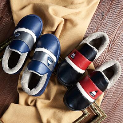 棉拖鞋男冬季全包跟皮防水情侣女秋室内外居家用毛毛保暖防滑厚底