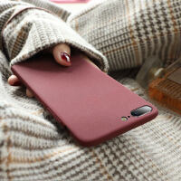 简约纯色苹果7plus手机壳iphone8磨砂女款苹果8plus潮牌8p男iphone6s七防摔6plus八X超薄7P套