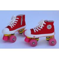 闪光轮帆布鞋 双排溜冰鞋闪光轮 闪轮溜冰场专用轮溜冰场溜冰鞋