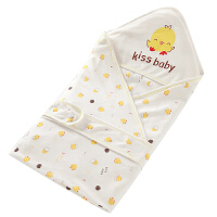 婴儿抱被薄款新生儿包被秋冬加厚婴幼儿抱被宝宝用品包巾ZQ95 夹薄棉 蓝色