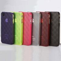 V2ROCK唯图诺克菱格iphone4/4S苹果手机套保护壳清水套高端 颜色随机