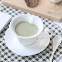 汉馨堂 咖啡杯碟 欧式白色陶瓷杯下午茶茶具创意简约杯子家用水杯牛奶杯套装