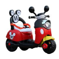 米奇儿童电动车摩托车三轮车电动童车宝宝可坐玩具车