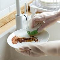 泰蜜熊家用洗碗洗菜手套女洗衣服防水手套家务刷碗手套