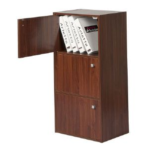 [当当自营]好事达 古韵三层带门收纳柜1023 书架书柜 储物柜子 优品优质