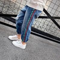 女童牛仔裤春装儿童牛仔休闲长裤